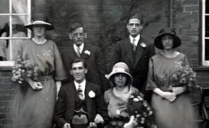 1923.  Dad's wedding
