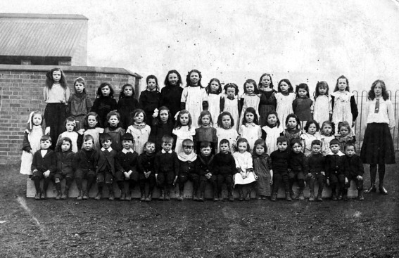 Some pupils at Bridgtown School. c1911