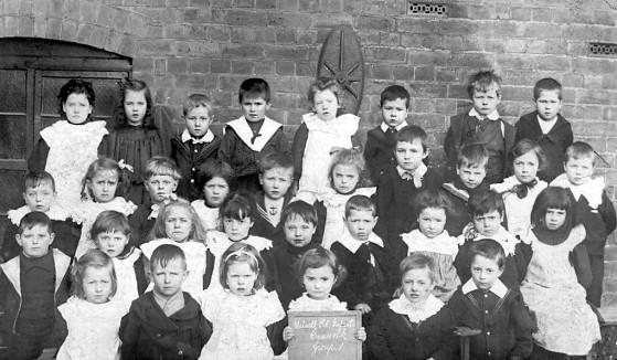 Walsall Rd Infants School, Cannock. 1905